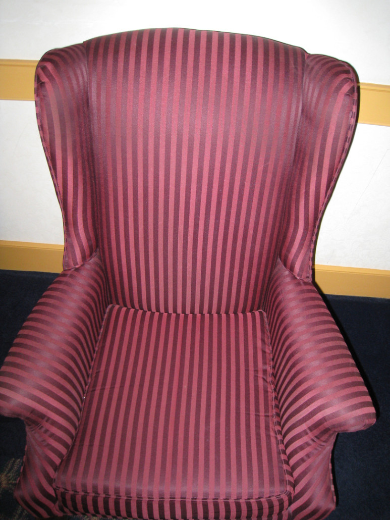 Pink Vinyl Chair - Clean